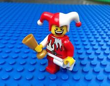 Lego Red and White COURT JESTER Minifig Minifigure Clown Castle Town City 7953