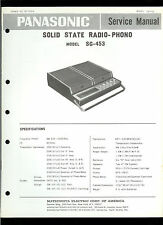 Original Factory Panasonic SG-453 AM Portable Radio Phono Service Manual