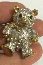 Vintage Brooch /Pin Teady Bear Gold Tone# 18