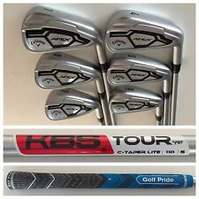 Callaway Apex CF16 Irons set 4-9 KBS C-Taper Lite 110 Stiff Flex Shafts +1/4""