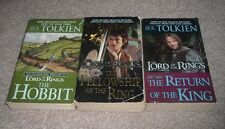 Lot 3 THE HOBBIT FELLOWSHIP OF THE RING RETURN OF THE KING JRR Tolkien