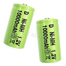 2x D Size 10000mAh NiMH Recycle Rechargeable Battery