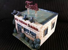 Tom's Ice Cream Building Zanesville Ohio O scale Model Railroad Train Scenery