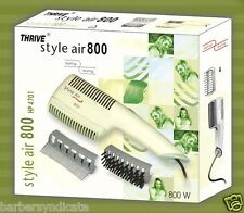 THRIVE Professional Hair Dryer 800watt NEW STYLE 800 DRYER Blower Hot air White