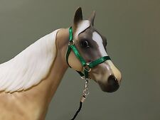 Traditional Scale Forest Green Model Horse Halter For Breyer