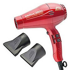 NEW Parlux 3800 Ionic Ceramic Eco-Friendly Professional Hair Dryer - RED