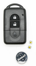 Fits NISSAN MICRA QASHQAI JUKE DUKE NAVARA 2 Button Remote key FOB refurbish kit