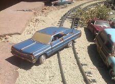 auto art,1964 Chevrolet Impala,barn find, junkyard,rusted,1/24 metal car