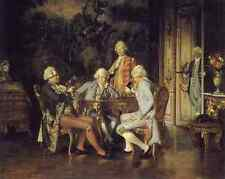 Johann Hamza The Chess Players A4 Print