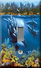 Single Light Switch Plate Cover - Blue Underwater