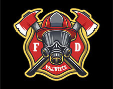 Firefighter Decals Vinyl Stickers Maltese Cross with Air Mask