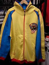 COOGI MENS YELLOW HOODED ZIP SWEATSHIRT JACKET TOP USA SIZE 2XL BIG AND TALL FIT