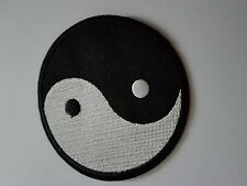 Large Ying and Yang Iron on transfer Patch Brand New Sew on Patch fancy dress