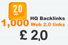 1,000 Web 2.0 high quality backlinks. Just £ 2.00 Limited Time Offer!