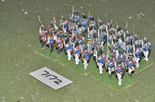 25mm napoleonic french old guard 36 figures (7172) painted metal