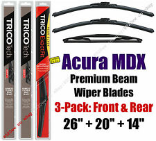 Wipers 3pk Premium Front Special Rear - fit 2014-2015 Acura MDX - 19260/200/14B