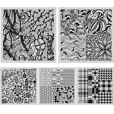 5 Pcs/Set Nail Art Stamp Plate Polish Print Manicure Template Stencil ND111-115