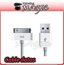 CABLE DE DATOS Y CARGA compatible IPHONE 4S 4 3GS 3G IPAD 3 2 1 cargador blanco