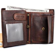Genuine Leather men's vintage wallet Bifold Card Holder luxury multi cards coin