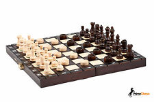 Tournament Wooden Chess + Backgammon + Draughts Set 26cm STUNNING HAND CRAFTED!