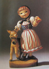 "Anri Juan Ferrandiz ""SWISS GIRL"" 6"" Wood Carved NIB #651663"
