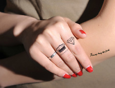 Crown Birds Rings Crown tattoo stickers