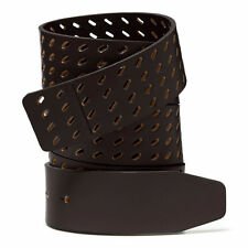 """New Oakley 1 1/2"""" Premium Leather Golf Belt Strap Brown for O Buckle $60"""