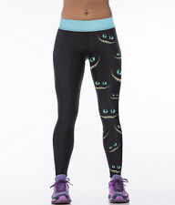 "Stretch! Girls Halloween Costume ""Cheshire cat"" Print Stretch Leggings Pants"