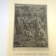 1930s Woodcut Print The Ghost of Abel by William EC Morgan: skeleton
