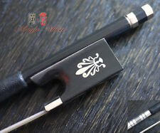 NEW Carbon Fibre Violin Bow with Phoenix Inlaid Ebony Frog (4/4), Good Balanced