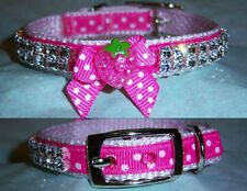 Strawberry rhinestone dog collar/chihuahua/yorkie/custom collar any size