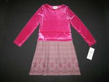"""NEW """"VICTORIAN PLAID ROSE"""" Mauve Dress Girls 16 Winter Clothes Holiday Kids"""