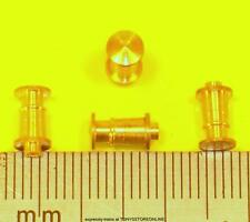 thought to be pre-hornby electrotren ho 1x pack of 4 brass 4.5mm round buffers