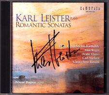 Karl Leister firmato ROMANTIC Sonatas Reger Danzi Nielsen Rossini Clarinet CD