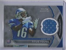 2011 Bowman Sterling #BSRTY Titus Young RC Jersey