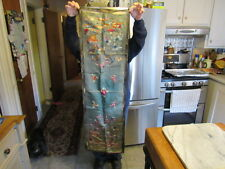 antique Chinese Silk Embroidery Textile Tapestry Oriental Asian Unframed