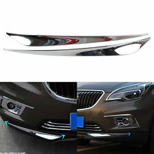 New 2Pcs/Set Chrome Car Auto Front Bumper Edges Protect Decorative Strip Strips