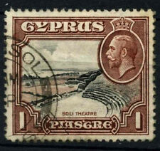 Cyprus 1928 SG#136, 1pi Black & Red-Brown KGV Used #D32835