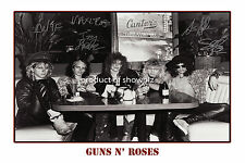 GUNS N' ROSES HUGE  AUTOGRAPHED SIGNED  POSTER    - GREAT PIECE OF MEMORABILIA