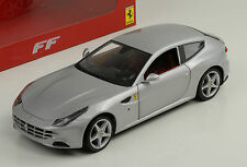 FERRARI FF 2010 ARGENTO SILVER HOT WHEELS 1:18