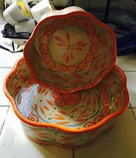 """Temp-tations By Tara Cake Pans in OLD WORLD  TANGERINE �� 6"""" And 8"""""""