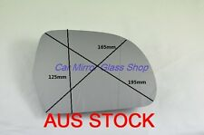 RIGHT DRIVER SIDE AUDI A4 2008+ MIRROR GLASS WITH BACK PLATE HEATER&ASPHERICAL