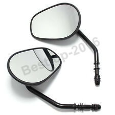 Black Rearview Side Mirrors for Harley-Davidson Dyna Street Bob FXDB 2006-2016