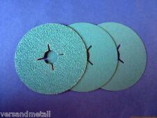 5 Stück Fiberscheibe 115 mm Korn 36 für Edelstahl schleifen, reinigen