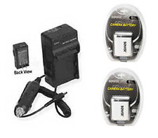 2X Batteries + Charger for Canon A2500 ELPH 110 HS 115 IS 120 IS 130 IS 320 HS