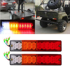20 LED ATV Trailer Truck RV Rear Tail Light Turn Signal Reverse Brake 12V/24V
