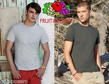 STOCK 50 pezzi FRUIT OF THE LOOM T-shirt ADERENTE manica corta UOMO 9 COLORI #