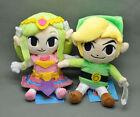 "2pcs Legend of Zelda Plush Doll Waker Link & Princess 7-7.5"""
