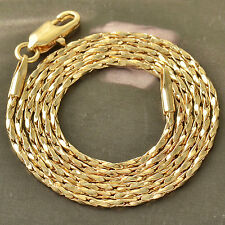 Authentic 9K Solid Gold Plated Rope Mens/Unisex Chain Necklace,20 Inch,Z4701