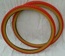24x1.75  Red gum wall bmx duro tires, for old school  bmx bike